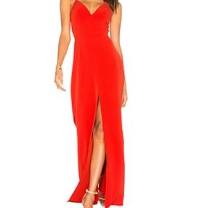 Lovers + Friends Helena Gown in Red